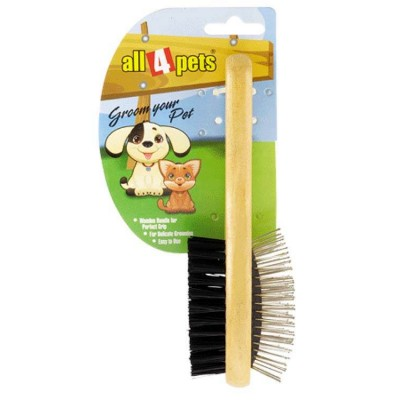 All4pets Double Side Pin Grooming Brush Large