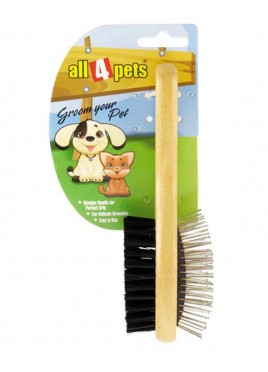 All4pets Double Side Pin Grooming Brush Medium