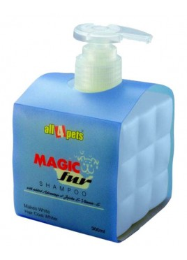 All4pets Magic Fur Makes White Hair Coat Whiter Shampoo 300ml