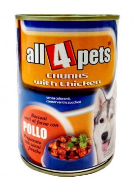 All4pets chunks With Chicken Can Food 400 Gms