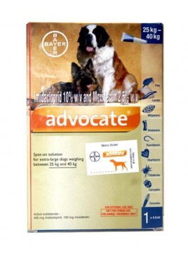 Bayer Advocate Spot-On 4.0 ml For 25-40kg