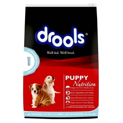 Drools Puppy Food Chicken and Vegetable 10 Kg