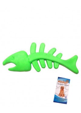 Fekrix Dog Toy Tuff Fish Green