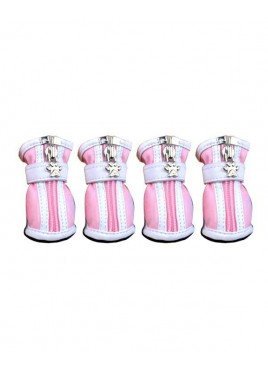 Fekrix Dog Shoes No-4 (Pink)