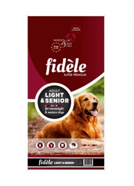 Fidele Adult Dog Food Light and Senior 15 kg