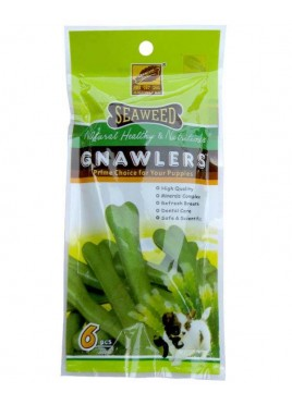 Gnawlers Seaweed Natural Dog Bones 6 pcs