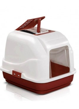 IMAC Easy Cat Brown Litter Covered Box