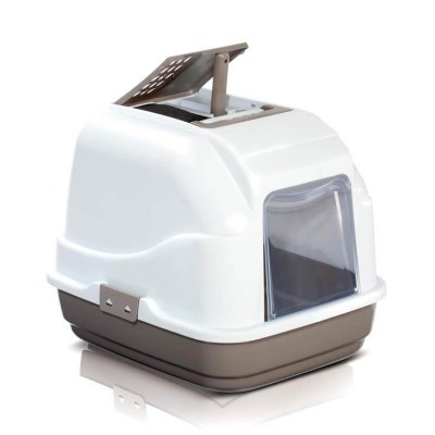 IMAC Easy Cat Litter Covered Box - Dove Grey - (Lxwxh - 19.5x15.5x15.5 Inch)