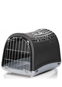 IMAC Linus Cabrio Carrier For Dog and Cat Anthracite - (LxWxH - 19.5x12.5x13.5 inch)