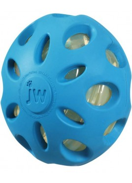 JW PET Crackle Heads Large Ball Dog Toys
