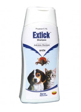 Mankind Extick Anti Tick Shampoo For Dog And Cat-200ml