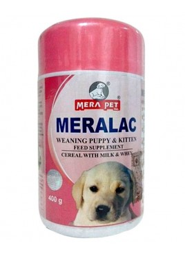 Mera pet Meralac Feed Supplement For Puppy And Kitten 400gm
