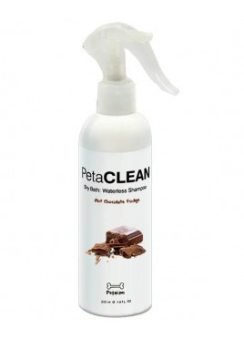Petacom Hot Chocolate Fudge Dry Bath: Waterless Shampoo 225Ml