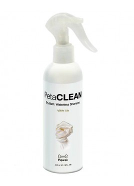 Petacom White Silk Dry Bath: Waterless Shampoo (225ml)
