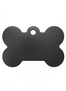 Petscribe Bone ID Tag Black For Dog
