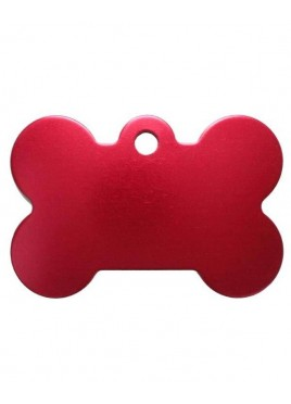 Petscribe Bone ID Tag Red For Dog