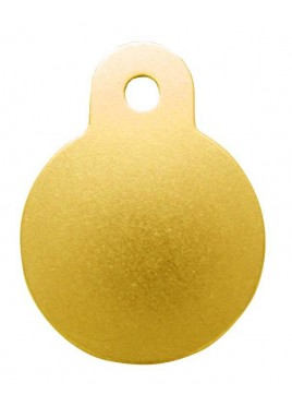 Petscribe Circle Small ID Tag Mustard For Dog