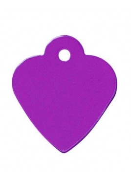 Petscribe Purple Heart ID Tag For Dog