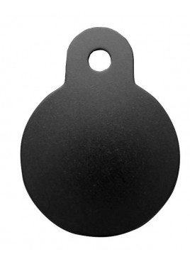 Petscribe Circle Large ID Tag Black For Dog