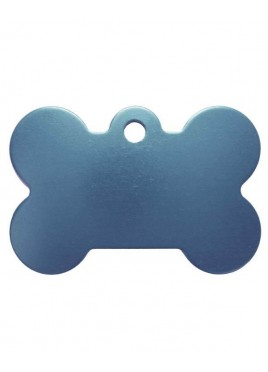 Petscribe Bone ID Tag (Light Blue, Small) For Dog