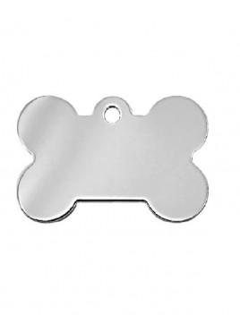 Petscribe Bone Chromed Brass Id Tag For Dog