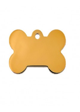 Petscribe Bone Gold Id Tag For Dog