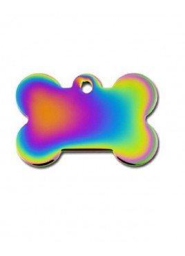 Petscribe Rainbow Bone Id Tag For Dog