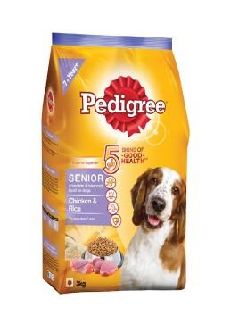 Pedigree Chicken And Rice Senior Dog Food-3Kg