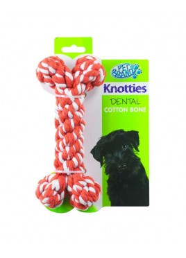 Pet Brands Knotty Bone medium 70 cm -Red For Dog