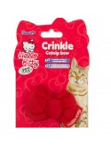 Pet Brands Hello Kitty Crinkle Catnip Bow Toy For Cat