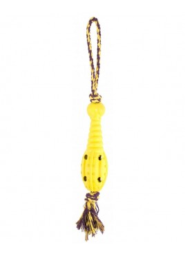 Pet Brands Rope And Rubber Rocket Dog Toy