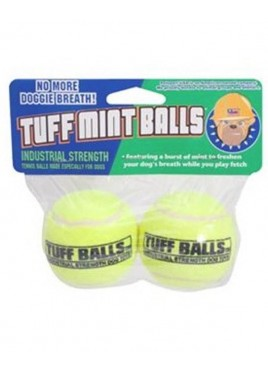 Petsport Jr. Tuff Mint Flavor Tennis Ball Dog Toy - 2 Pack