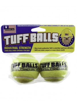 PetSport Natural Rubber Tuff Balls Dog Toy 2 Ball