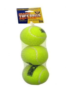 PetSport Dog Toy Tuff Squeak Sound Medium Ball 3pk