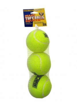 PetSport Dog Toy Tuff Squeak Sound Small Ball 3pk
