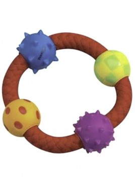 Petstages multi texture chew ring pets toy