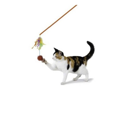 Petstages Pounce N Play Stick Cat Toy