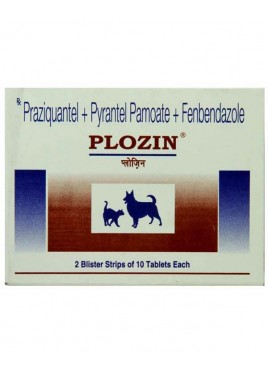Cadila Plozin Dewormer For Dog - 20 Tablets