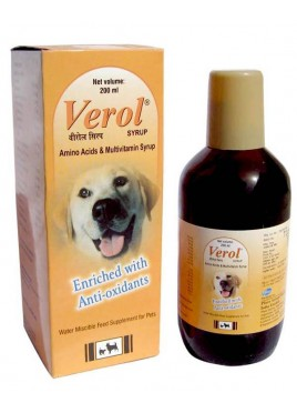 Cadila Verol Syrup 200ml Feeding Supplement For Dog