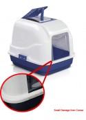 IMAC Easy Cat Litter Covered Box for Cats ( Blue)