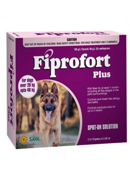 Sava Healthcare Fiprofort for Dogs with 20 to 40 kg body Weight