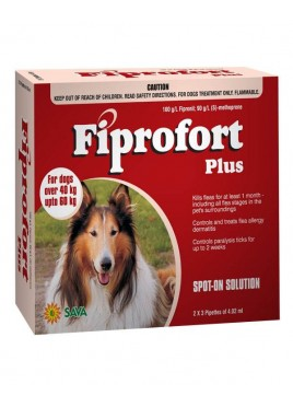 Sava Healthcare Fiprofort for Dogs with 40 to 60 kg body Weight