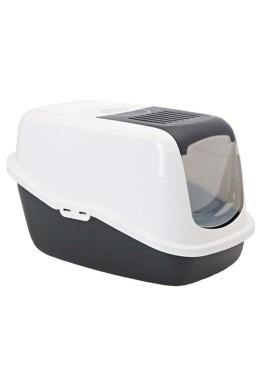 Savic Nestor Cat Toilet (Black & White)