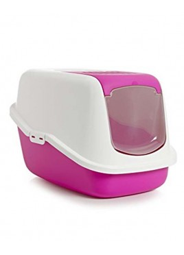Savic Nestor Cat Toilet Fuchsia and White