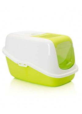 Savic Nestor Cat Toilet Lemon Green and White