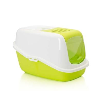 Savic Nestor Cat Toilet Lemon Green and White