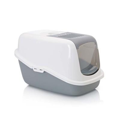 Savic Nestor Cat Toilet Cold Gray and white