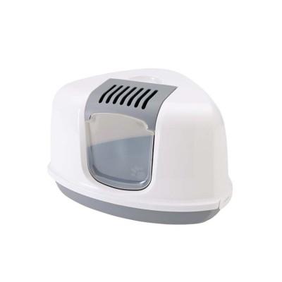 Savic Nestor Corner Cat Toilet Gray & White