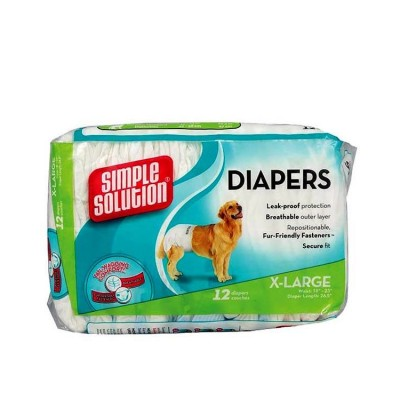 Simple Solution Dog Disposable Diaper X- Large