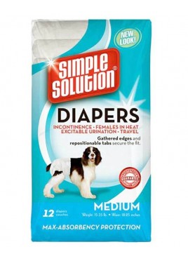 Simple Solution Dog Disposable Diaper Medium